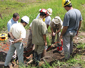 Photo of on-site training.
