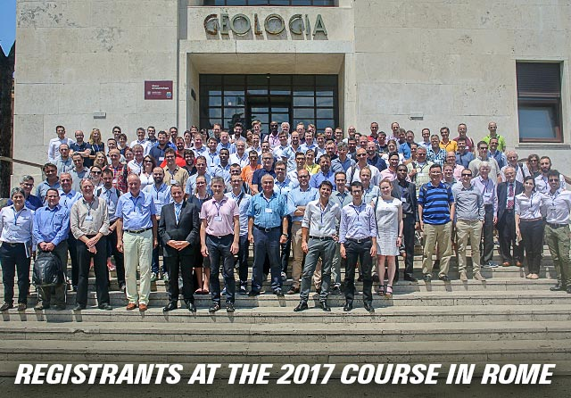 Registrants at the 2017 course in Rome.