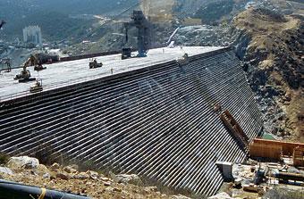 Photo of RCC dam.