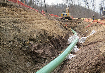 Photo of gas pipeline.