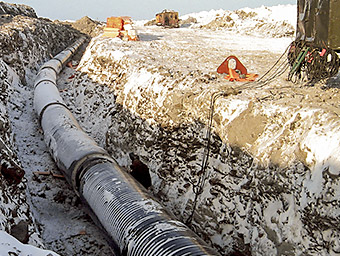 Photo of a Pipeline under construction.