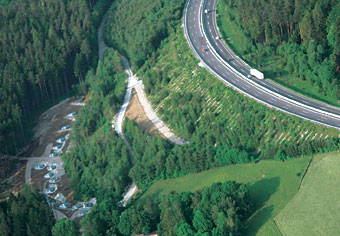 Photo of slope monitoring.