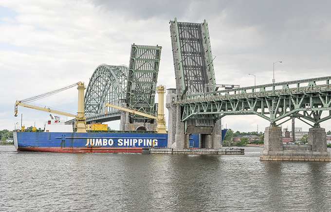 Photo of the Tacony-Palmyra Bridge.