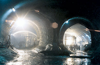 Photo of the Istanbul Metro Tunnel.
