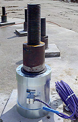 Photo of Load cell installed on a 3-inch anchor.