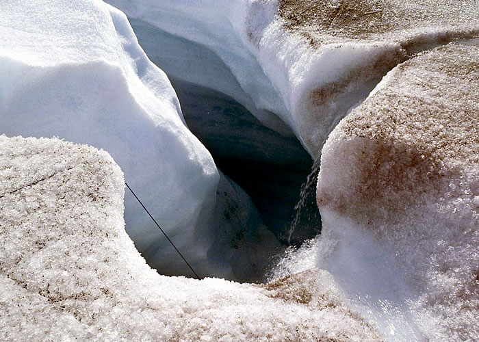Glacier moulin photo.
