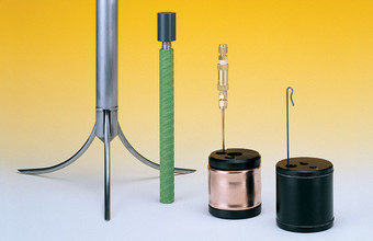 Borros Type, Groutable, Hydraulic and Snap-Ring Extensometer Anchors (left to right).