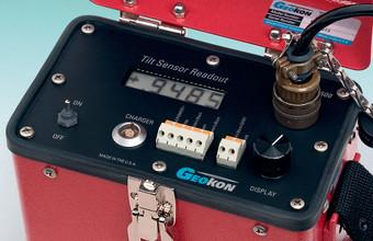 Close-up of Model RB-500 MEMS Readout Box control panel.
