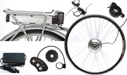 "250W 700C (28"") Rear Rack Lithium Battery Electric Bike Conversion Kit"