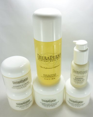 Theraderma Oily Acne Skin 6 piece Home Care System