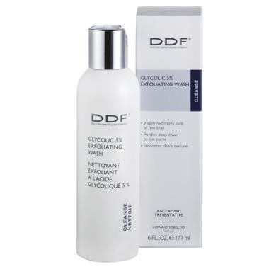 DDF Glycolic 5% Exfoliating Wash Skin Care Product