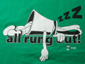 "T-shirt  ""All Rung Out"" (kelly green)"