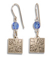 Earrings w/ Celtic design - Pewter (7 bead colors)