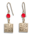 Earrings w/ Celtic design - Pewter  (5 bead colors)