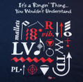 T-shirt - &quot;Ringing Techniques&quot; (navy blue)