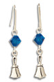 Birthday Bell Earrings w/ Crystal Bead - SS