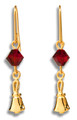 Handbell Earrings w/ Swarovski Crystal Bead - GV