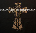 """T-shirt  """"Fellowship of the Ringers"""" (black & forest green)"""
