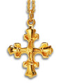 "Greek Handbell Cross Charm w/ 18"" chain - GV"