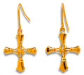 Medium Handbell Cross Earrings - GV
