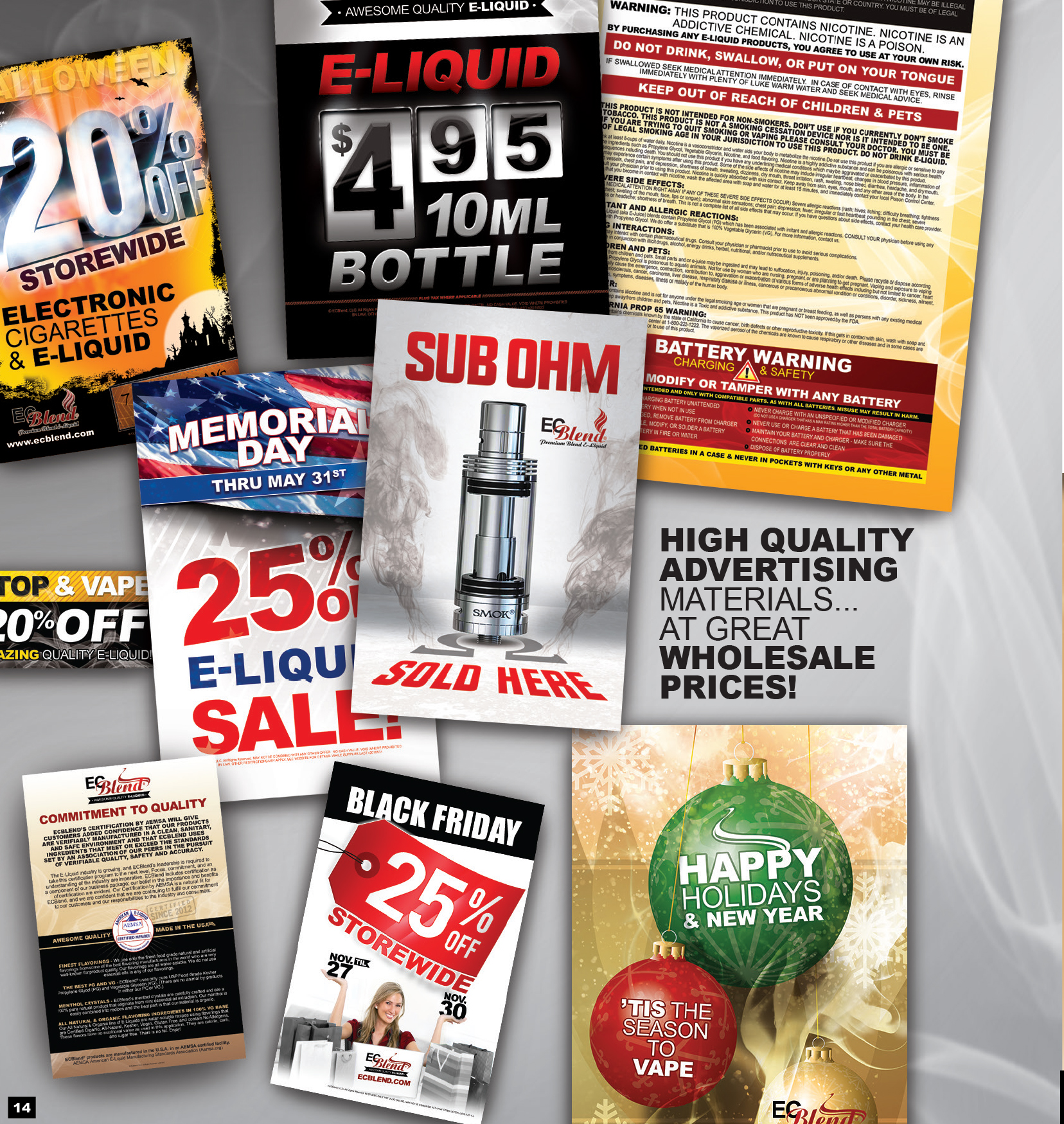Advertising made easy! MAKES YOUR IN-STORE ADVERTISING LOOK AMAZING!