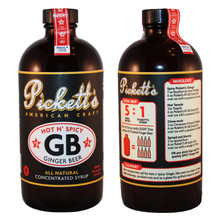 Pickett's #3 'Hot n' Spicy' Ginger Beer 2pack (16oz bottles) Concentrated Syrup