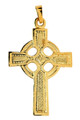 Gold Celtic Pendant Cross