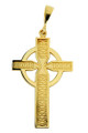 Celtic Pendant Cross in Yellow Gold