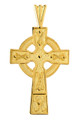 Gold Celtic Cross Medallion Pendant