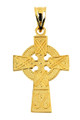 Gold Celtic Cross Pendant 1 inch