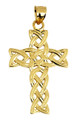Solid Gold Celtic Trinity Cross Pendant from CladdaghGold.com - image