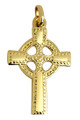Gold Celtic Polished Cross Pendant from CladdaghGold.com - image