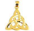 Celtic Trinity Pendant Gold from CladdaghGold.com - image
