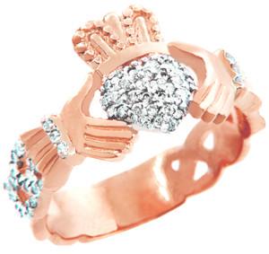 Rose_Gold_Diamond_Pave_Claddagh_Unisex_Ring_0.50_carat3__19783