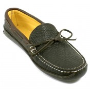 Bull Hide Deerskin Lined Triple Sole Canoe Moc