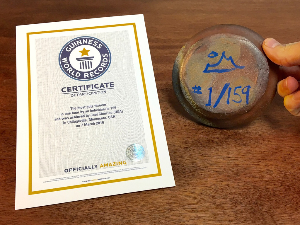 World Record Planter #1/159 and Certificate of Authenticity