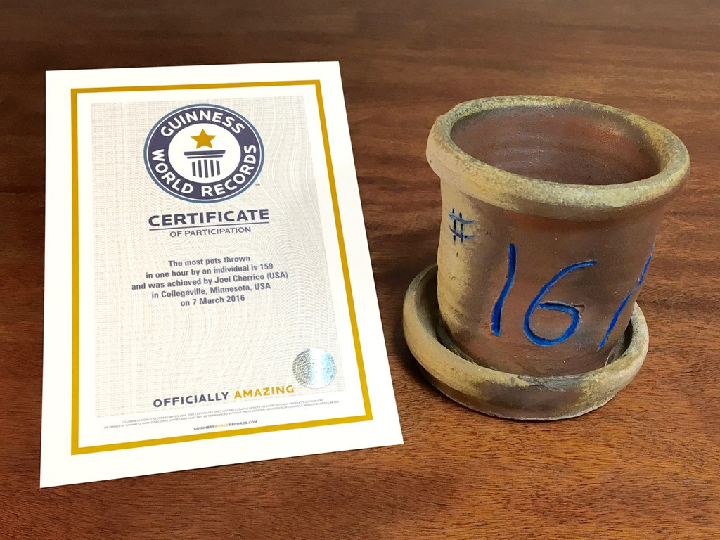 World Record Planter #16/159 and Certificate of Authenticity