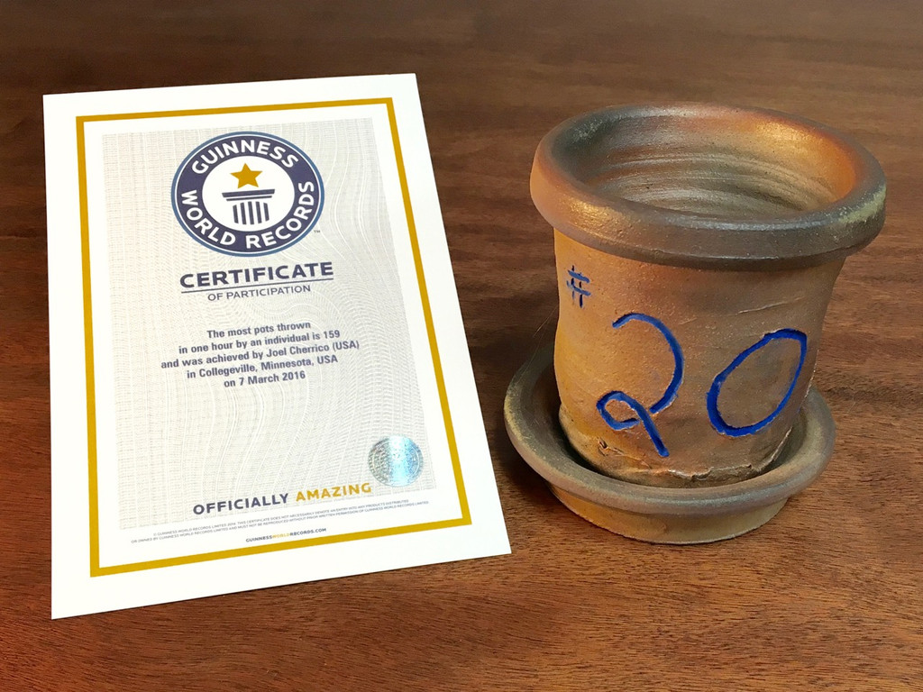 World Record Planter #20/159 and Certificate of Authenticity