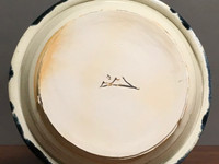 """Porcelain Wall Platter Inspired by Historical Artists, Nuka Coblat, Roughly 14"""" diameter by 3"""" tall (ST375)"""
