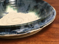 """Large Wall Platter Inspired by Historical Artists, Nuka Iron, Roughly 16"""" diameter by 3.5"""" tall (ST340)"""