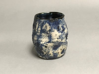 Blue Moon/Lunar Cup, roughly 12-14 ounces, Inspired by the Lunar Surface and Asteroid 243 Ida (SK676)