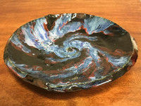 "Stoneware Wall Platter Inspired by a Planetary Nebula, Roughly 14"" diameter by 2.5"" tall (SK707)"