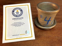 World Record Planter #4/159 and Certificate of Authenticity