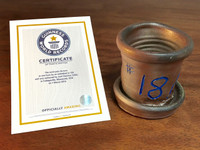 World Record Planter #18/159 and Certificate of Authenticity