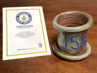 World Record Planter #158/159 and Certificate of Authenticity
