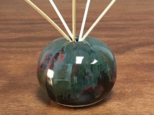 Cosmic Orb, roughly 3.5 inches wide by 3 inches tall, 6 inches tall with Diffuser Incense Sticks, Inspired by a Star-Formation Nebula (SP132)