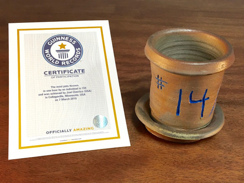 World Record Planter #14/159 and Certificate of Authenticity