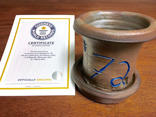 World Record Planter #72/159 and Certificate of Authenticity