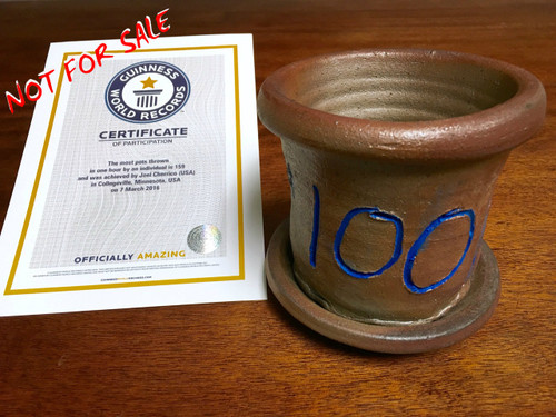 World Record Planter #100/159 and Certificate of Authenticity