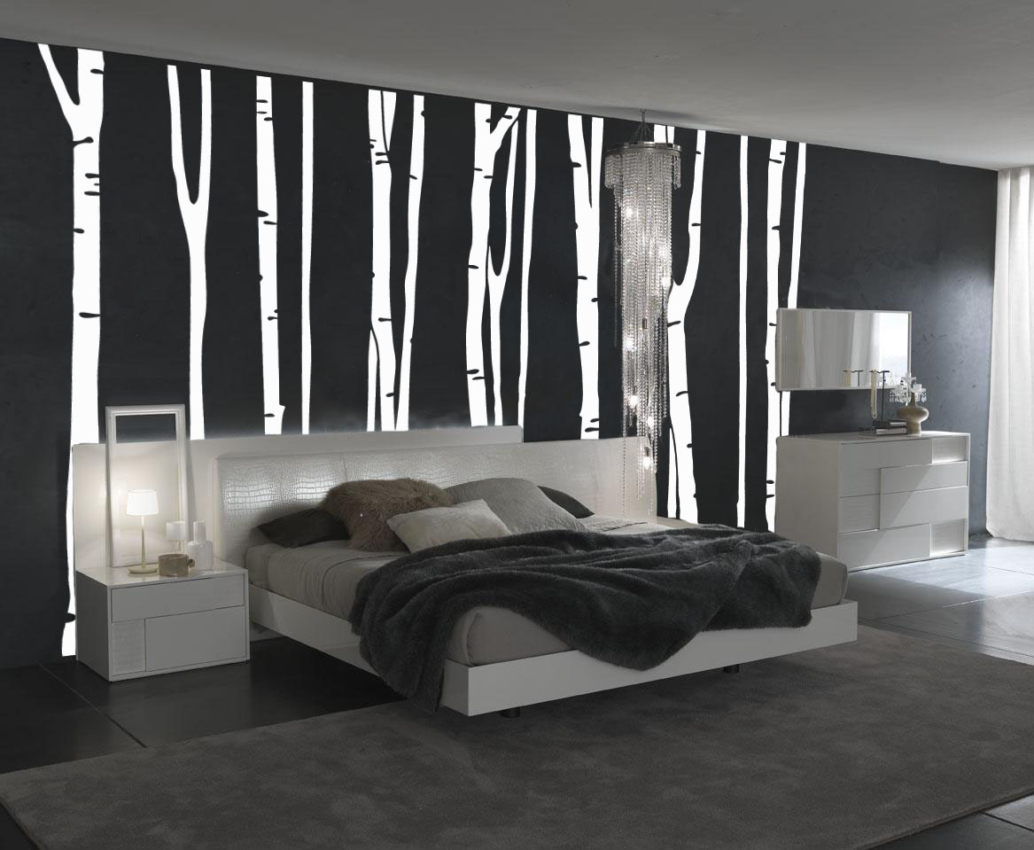 1109 Birch Tree Wall Decal
